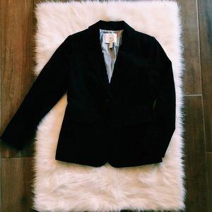 nordstrom | black stretch cotton twill blazer